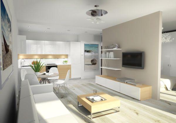 В скандинавских интерьерах запланированы, в частности, натуральные, деревянные полы в цветовой гамме белого дерева -