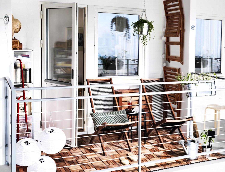 Складная мебель для небольшого балкона