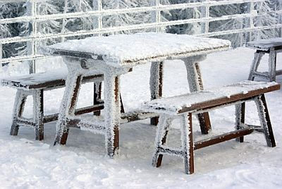 Позаботьтесь о уличной мебели зимой