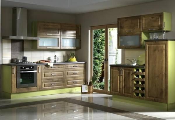 Мебель на кухне в различных стилях