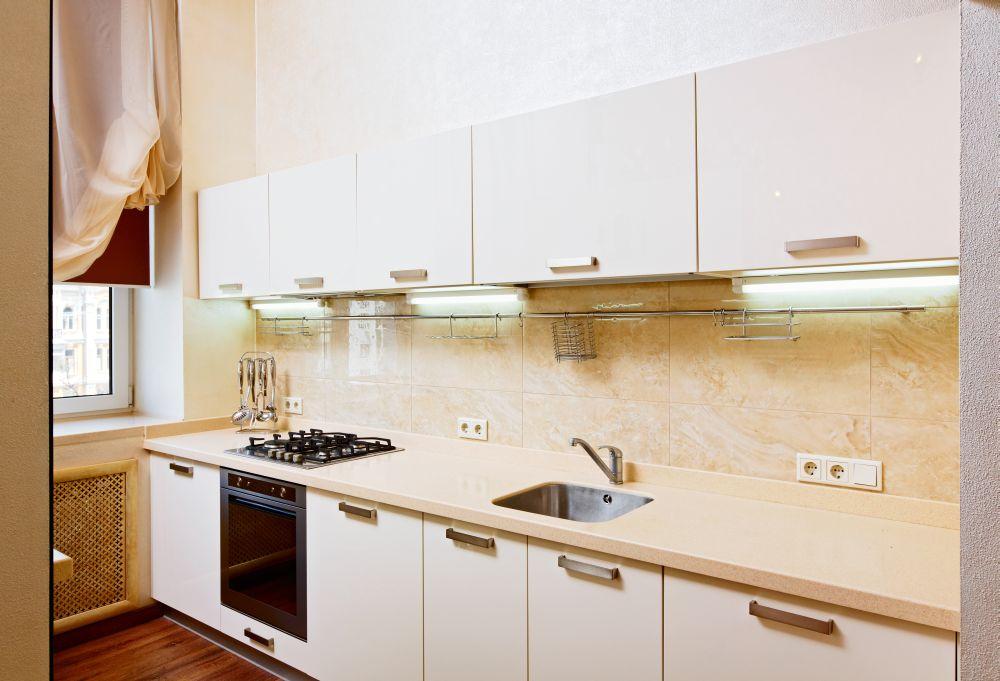 Гостиная с кухней: интересная идея на разделение интерьера