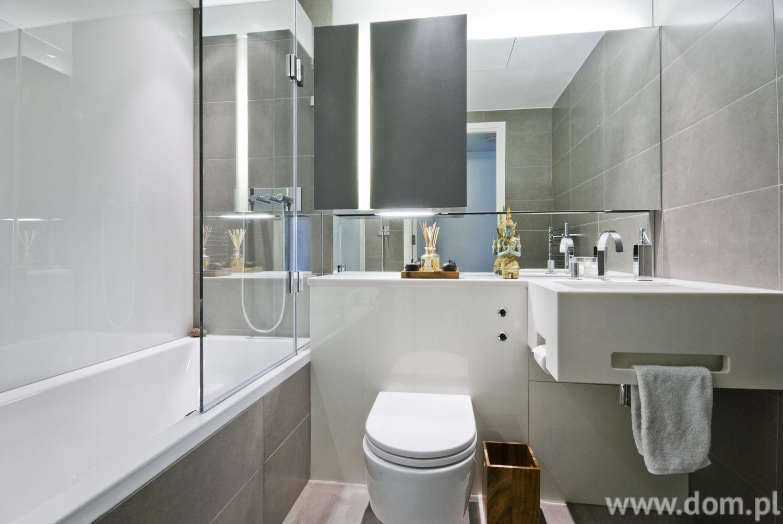 Ванная комната в серых. Керамическая плитка в соответствии с последними тенденциями