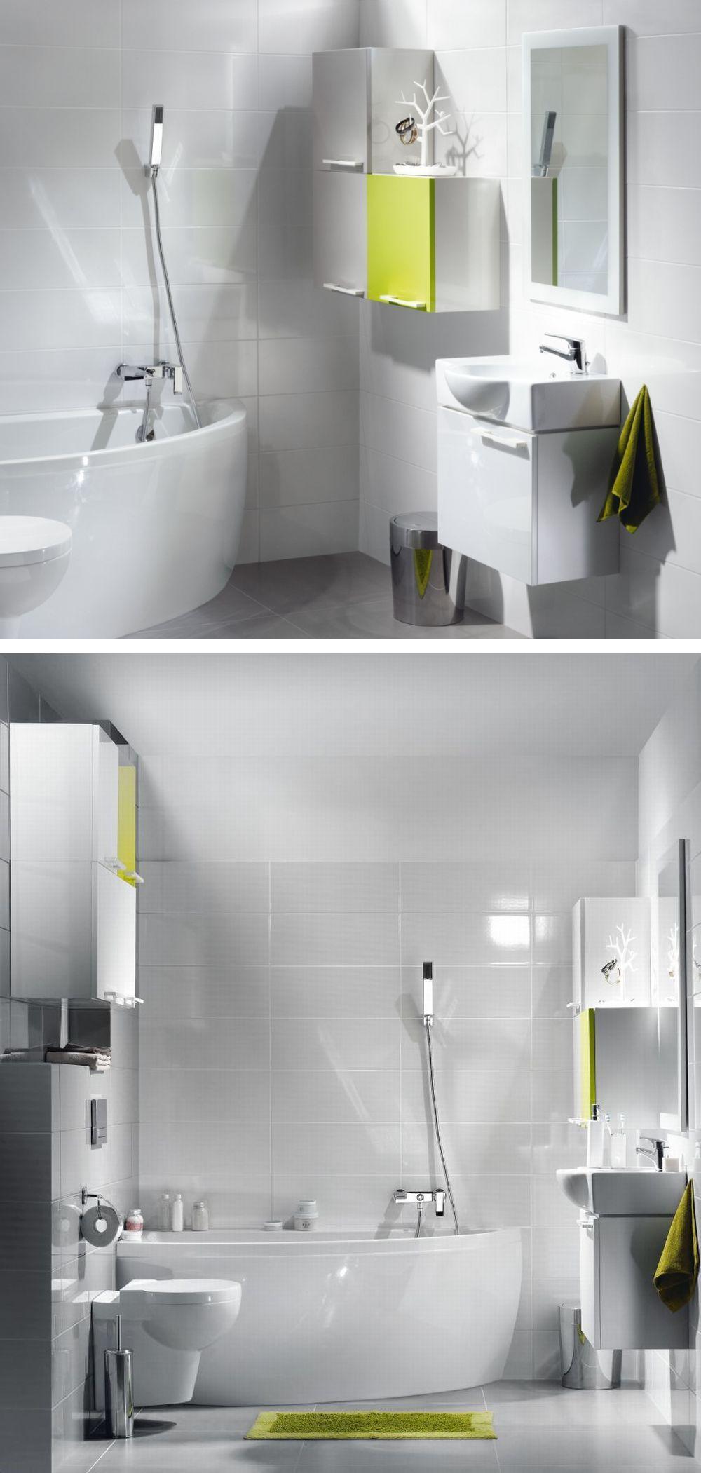 Маленькая ванная комната в блоке: функциональный и модный интерьер