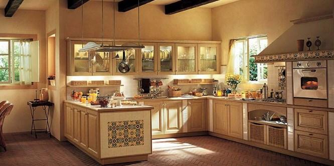 Стиль кантри в интерьере и мебели кухни