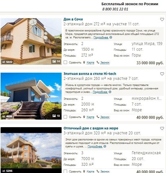 элитные дома цены