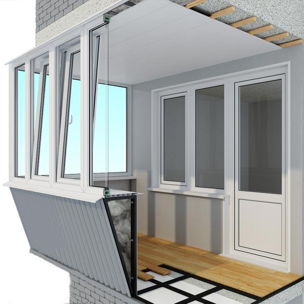остекление балконов в днепре. Фото
