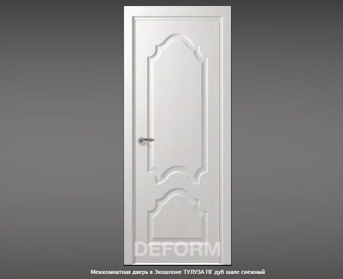 Межкомнатная дверь в Экошпоне ТУЛУЗА ПГ дуб шале снежный