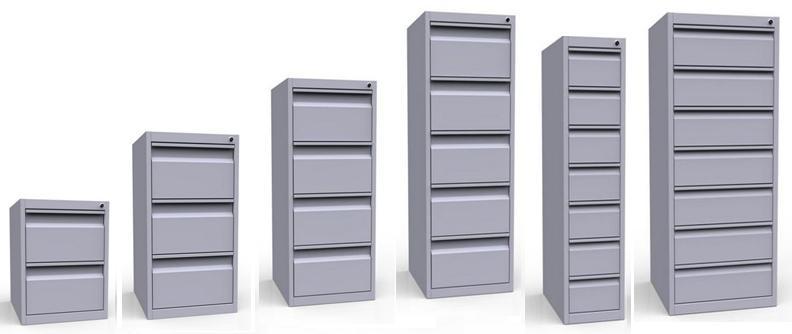 Картотечный металлический шкаф для документации